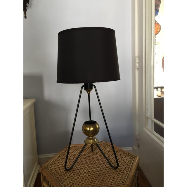 Gerald Thurston for Lightolier Hairpin Tripod Table Lamp - Image 2 of 7