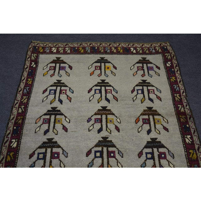 "Brown Vintage Turkish Anatolian Decorative Rug - ′3'10""x4'6"" For Sale - Image 8 of 10"