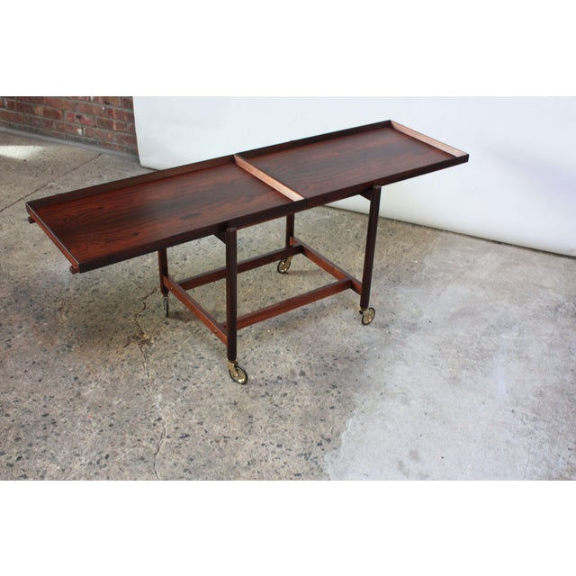 Danish Modern Poul Hundevad Rosewood Modular Bar Cart For Sale - Image 3 of 13