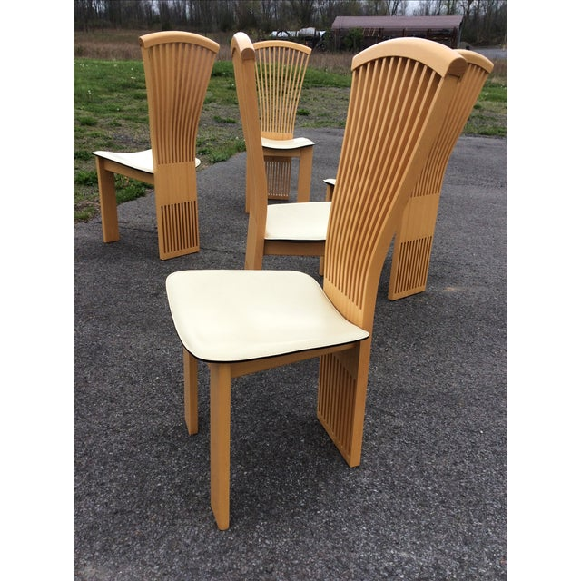 Pietro Costantini Maple Dining Chairs - Set of 6 - Image 9 of 11