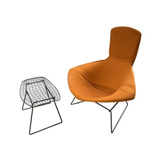1950s Original Bertoia for Knoll Bird Chair and Ottoman - a Set For Sale