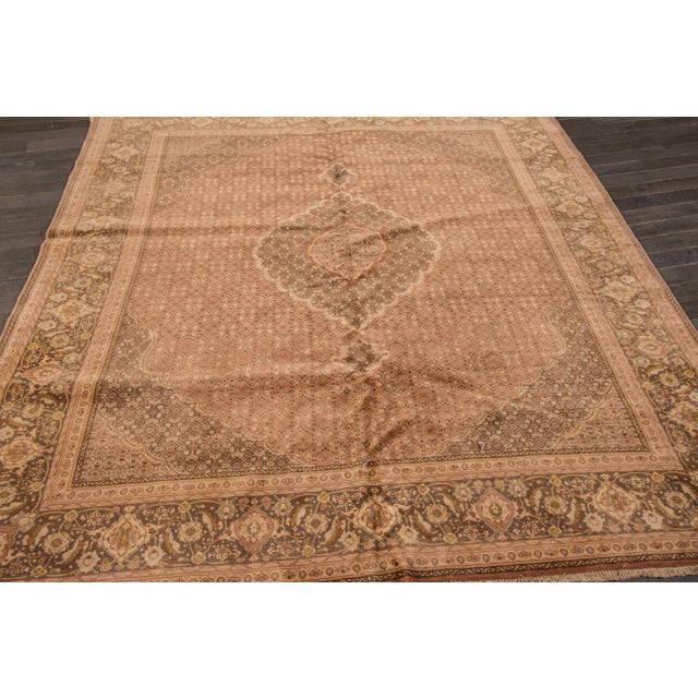 "Apadana Vintage Persian Tabriz Rug - 6'8"" x 7'9"" For Sale - Image 4 of 7"
