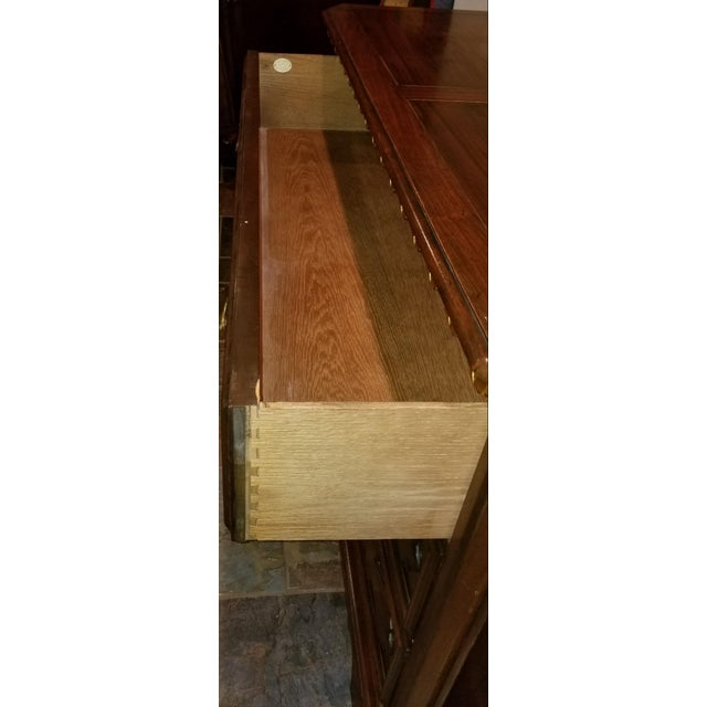 Americana Baker Furniture Carved Wood Chest of Drawers For Sale - Image 3 of 5