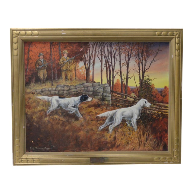 """John Lawrence Murray """"The Hunt"""" Original Oil Painting C.1941 For Sale"""