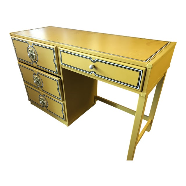 1960s Vintage Drexel Flower Power Desk For Sale