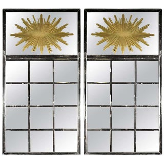Hollywood Regency Style Venetian Mirrors, a Pair For Sale