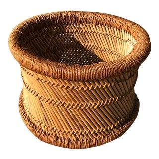 Vintage Planter Basket For Sale