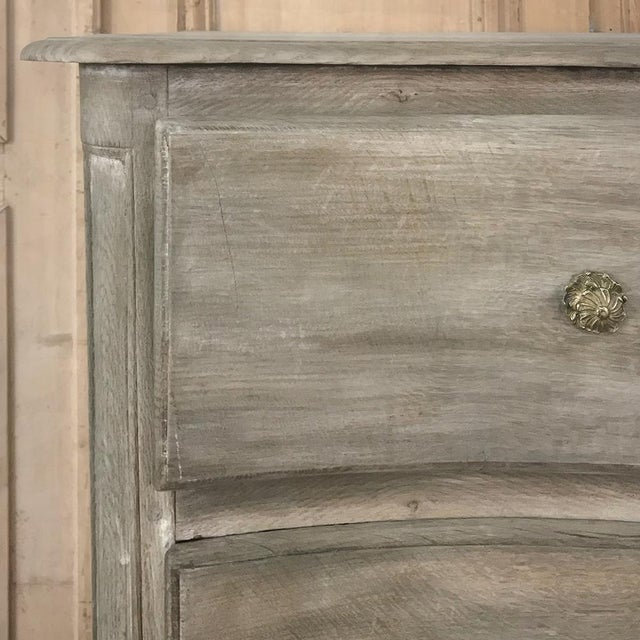 18th Century Country French Whitewashed Oak Commode For Sale - Image 12 of 13
