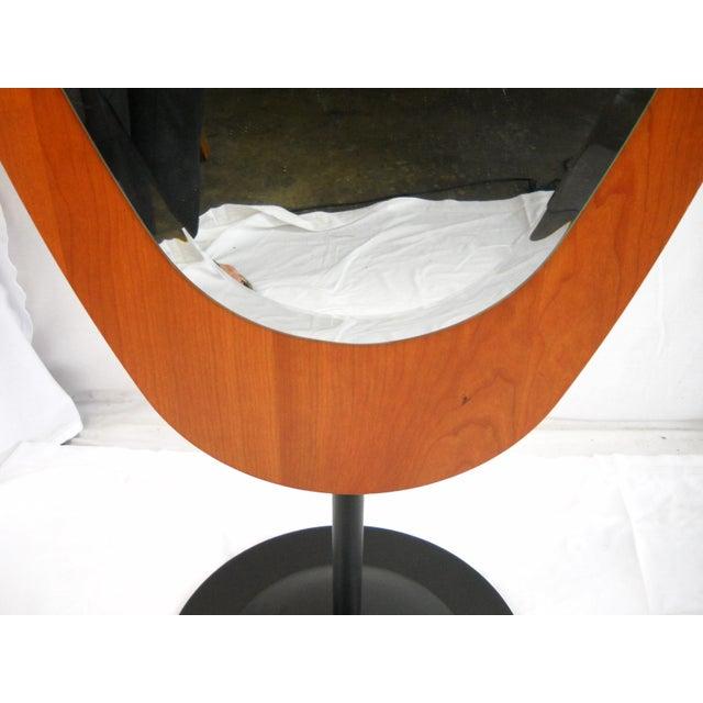 Brown Mid-Century Italian Standing Floor Mirror For Sale - Image 8 of 9
