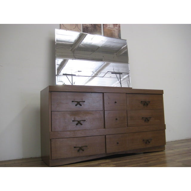 Mid Century Modern Dresser With Vanity Mirror - Image 7 of 9
