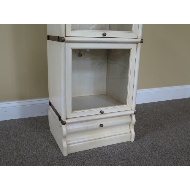 Transitional Transitional Globe Wernicke 4 Section White Stacking Narrow Bookcase For Sale - Image 3 of 13