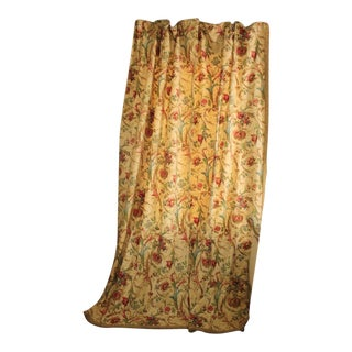 Curtain Antique French Floral Rococo Design W/ Tieback Chateau Tall Ceiling For Sale