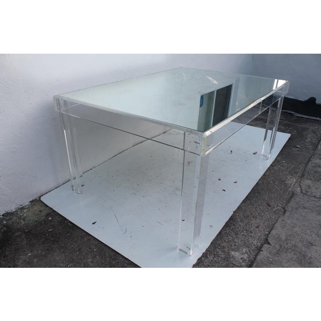 VJJ 1978 Signed Lucite Dining Table For Sale - Image 9 of 11