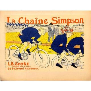 """La Chaine Simpson, Toulouse-Lautrec, Chromolithograph, 1951, Matted 16x20"""" For Sale"""
