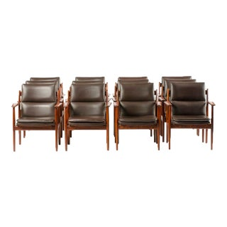 1950s Mid-Century Danish Rosewood Chairs - Set of 11 For Sale