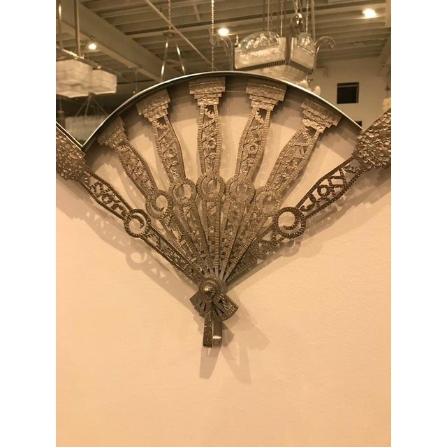 Sophisticated French Art Deco Fan Wall Mirror | DECASO
