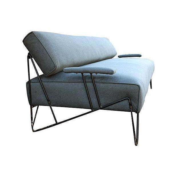 Italian Gray Upholstered Daybed - Image 2 of 6