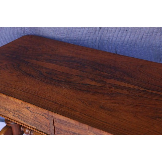 English Antique English Console Table With Two Drawers For Sale - Image 3 of 13