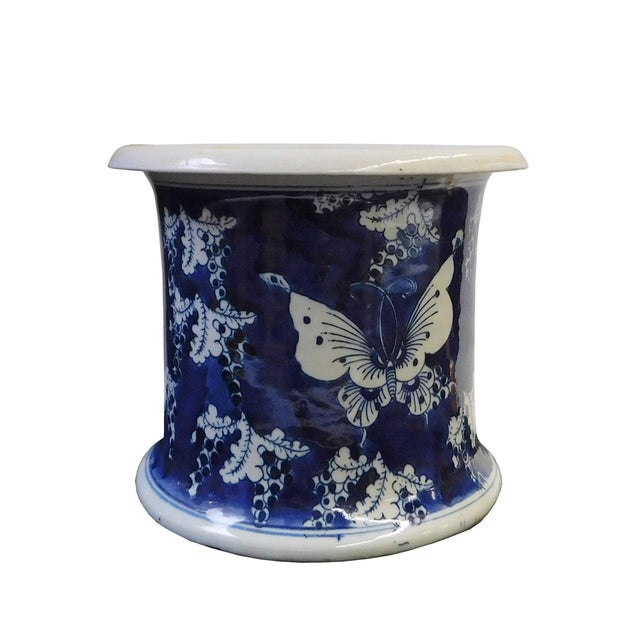 Chinese Blue & White Porcelain Butterfly Bowl - Image 3 of 6