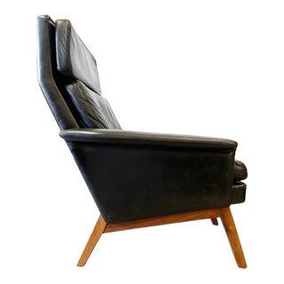 Danish Modern Kai Lyngfeld Larsen Highback Lounge Rosewood Chair For Sale