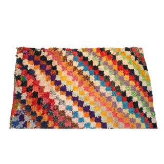 """Vintage Boucherouite Moroccan Carpet - 7'8"""" X 5'5"""""""