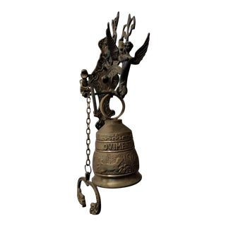 Vintage Ornate Brass Door Bell