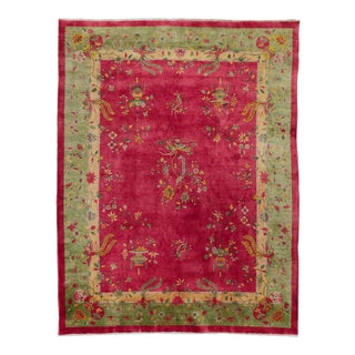 1920s Art Deco Chinese Rug- 7′11″ × 11′6″ For Sale