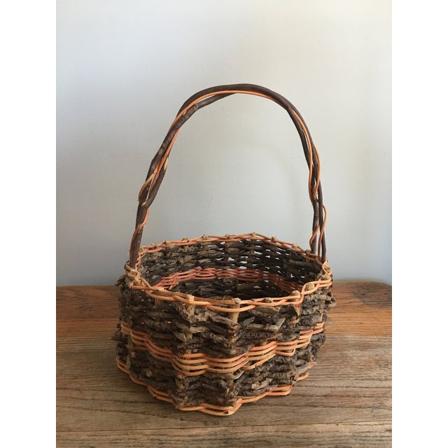 Early 20th Century Antique French Gathering Basket For Sale In Savannah - Image 6 of 6