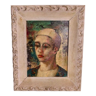 Abruzzi Young Clown Painting by Harold C Stephenson For Sale