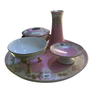 Noritake Dressing Table Set - 5 Pieces For Sale