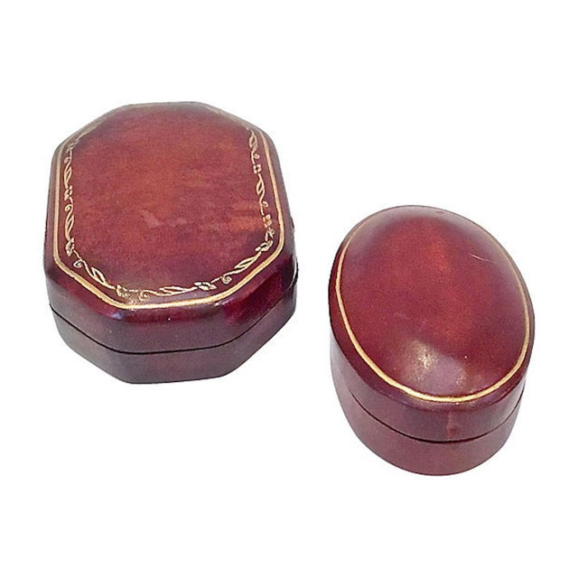 Italian Early 20th Century Vintage Florentine Leather Snuff Boxes - a Pair For Sale - Image 3 of 6