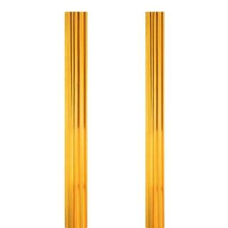 Custom Kravet Saffron Silk Stationary Drapery Panels - 3 Pairs