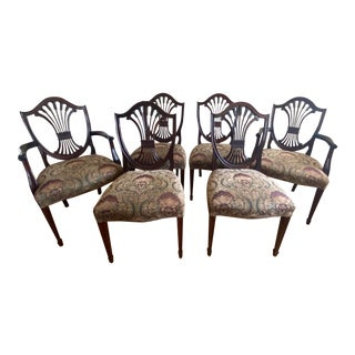 1990s Vintage Stickley Monroe Place Hepplewhite Dining Chairs- Set of 6 For Sale
