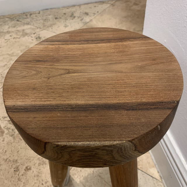 1970s Ingvar Hildingsson Style Pearwood Stool For Sale In Miami - Image 6 of 11