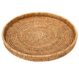 "Image of Artifacts Rattan Round Tray 16""x 2"" For Sale"