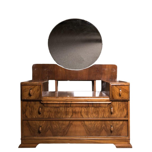 Art Deco Early 20th Century Vintage Art Deco Waterfall Dressing Table For Sale - Image 3 of 3