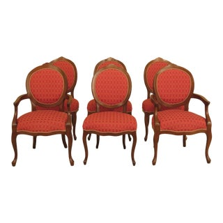 Modern Calico Corners Upholstered French Dining Room Chairs- Set of 6 For Sale