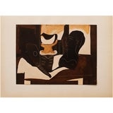"""Image of 1940s Pablo Picasso, """"Still Life With Antique Head"""" Original Period Swiss Lithograph For Sale"""