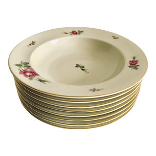 """Vintage Floral Rosenthal """"Aida"""" Set of 8 Soup Bowls For Sale"""