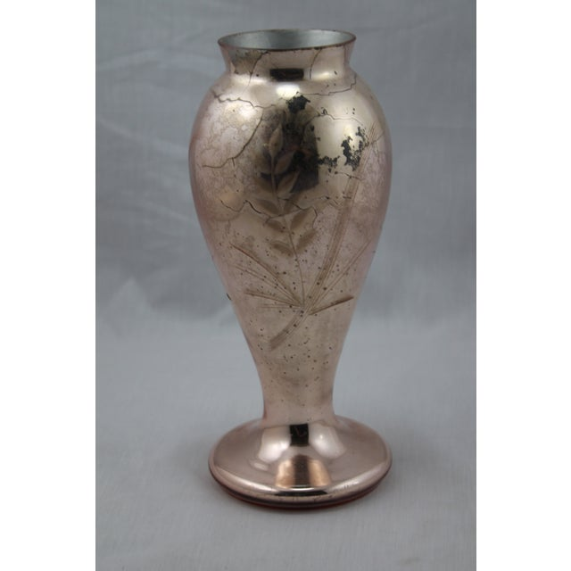 French Art Deco 1920s Mercury Cut Etched Glass Vase Chairish