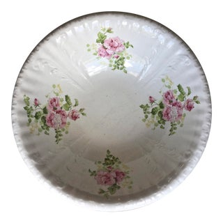 1930s Vintage Hand Painted Bowl For Sale