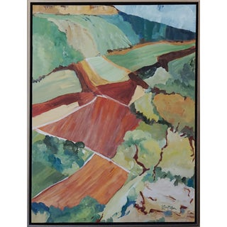 """Original Laurie MacMillan """"Common Ground"""" Abstract Landscape Painting"""