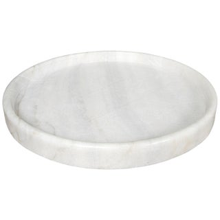 "20"" Round Tray, White Stone For Sale"