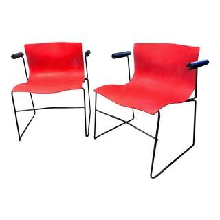 1985 Vintage Knoll Vignelli Handkerchief Chairs - a Pair For Sale