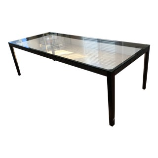 Poltrona Frau Glass and Steel Dining Table