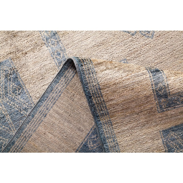 """Bohemian Hand-Knotted Area Rug 7' 10"""" x 10' 0"""" For Sale In New York - Image 6 of 9"""