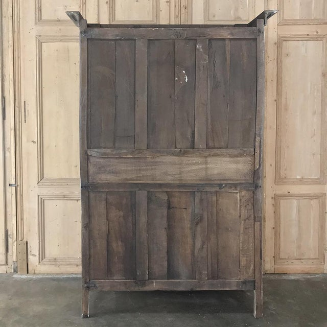 19th Century Country French Provincial Whitewashed Armoire For Sale - Image 12 of 13