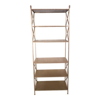 Bienville 6 Shelf Iron Etagere For Sale