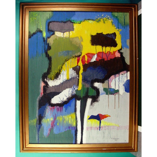Abstract Vintage 1965 The Trees by Tad Lisicki For Sale - Image 3 of 3