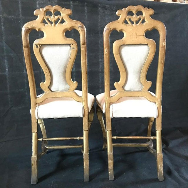 Late 19th Century French Giltwood Chairs- A Pair For Sale - Image 10 of 11